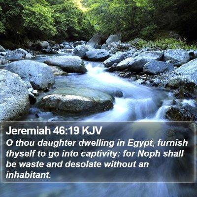 Jeremiah 46:19 KJV Bible Verse Image