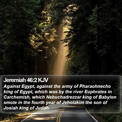 Jeremiah 46:2 KJV Bible Verse Image