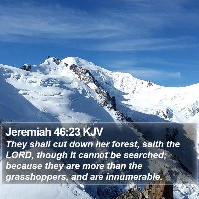 Jeremiah 46:23 KJV Bible Verse Image