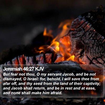 Jeremiah 46:27 KJV Bible Verse Image