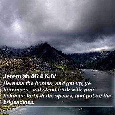Jeremiah 46:4 KJV Bible Verse Image
