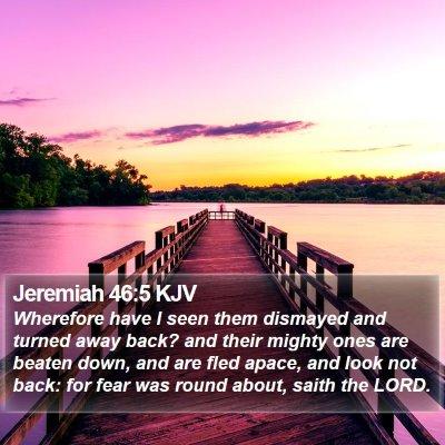 Jeremiah 46:5 KJV Bible Verse Image