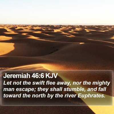 Jeremiah 46:6 KJV Bible Verse Image