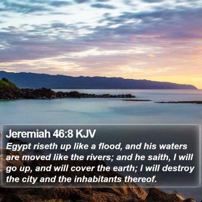 Jeremiah 46:8 KJV Bible Verse Image