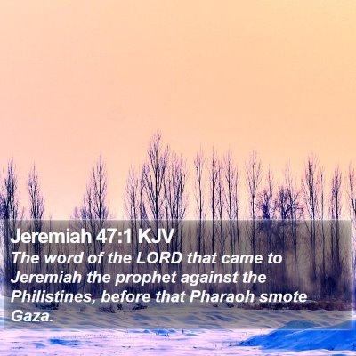 Jeremiah 47:1 KJV Bible Verse Image