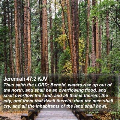 Jeremiah 47:2 KJV Bible Verse Image