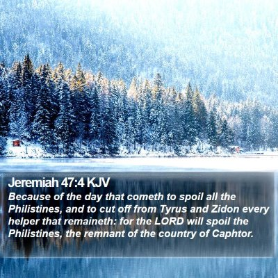 Jeremiah 47:4 KJV Bible Verse Image
