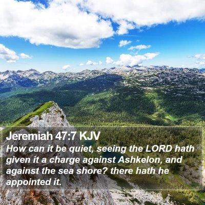 Jeremiah 47:7 KJV Bible Verse Image