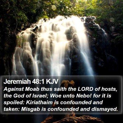 Jeremiah 48:1 KJV Bible Verse Image