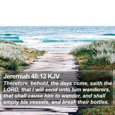 Jeremiah 48:12 KJV Bible Verse Image