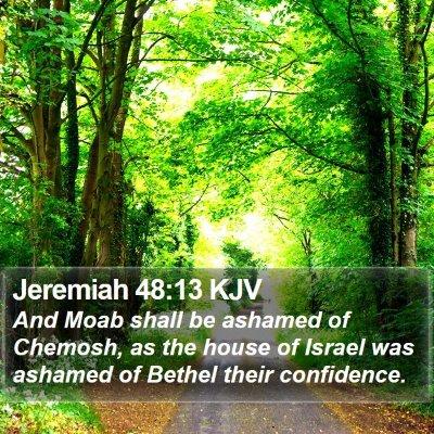 Jeremiah 48:13 KJV Bible Verse Image