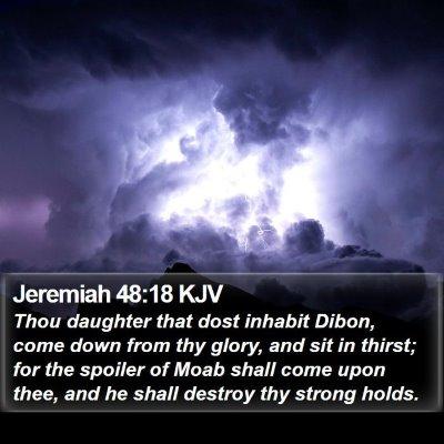 Jeremiah 48:18 KJV Bible Verse Image