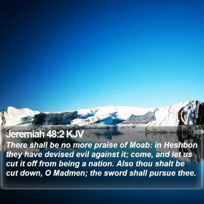 Jeremiah 48:2 KJV Bible Verse Image