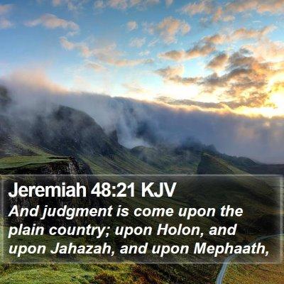 Jeremiah 48:21 KJV Bible Verse Image