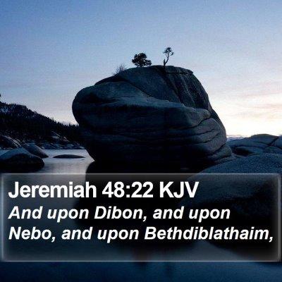 Jeremiah 48:22 KJV Bible Verse Image