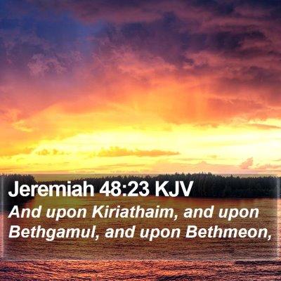 Jeremiah 48:23 KJV Bible Verse Image