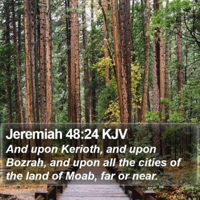 Jeremiah 48:24 KJV Bible Verse Image