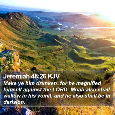Jeremiah 48:26 KJV Bible Verse Image