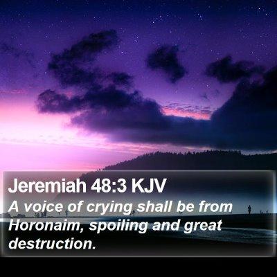 Jeremiah 48:3 KJV Bible Verse Image