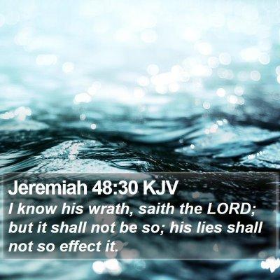 Jeremiah 48:30 KJV Bible Verse Image