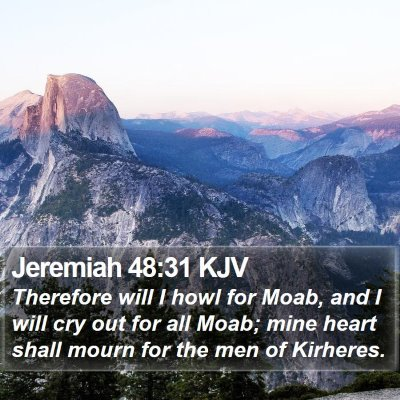 Jeremiah 48:31 KJV Bible Verse Image