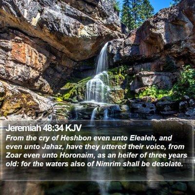 Jeremiah 48:34 KJV Bible Verse Image