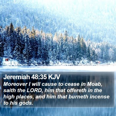 Jeremiah 48:35 KJV Bible Verse Image