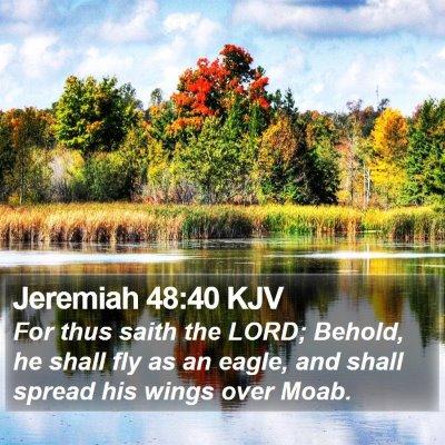 Jeremiah 48:40 KJV Bible Verse Image