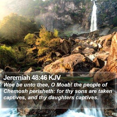 Jeremiah 48:46 KJV Bible Verse Image