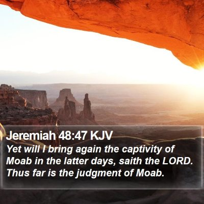 Jeremiah 48:47 KJV Bible Verse Image