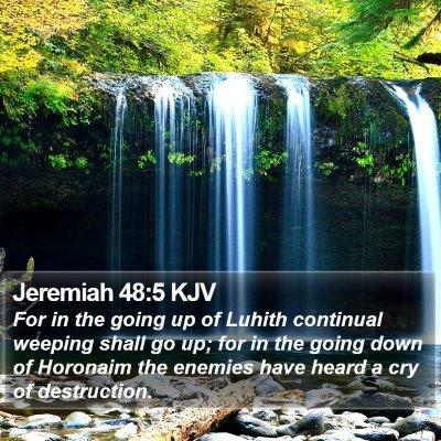 Jeremiah 48:5 KJV Bible Verse Image