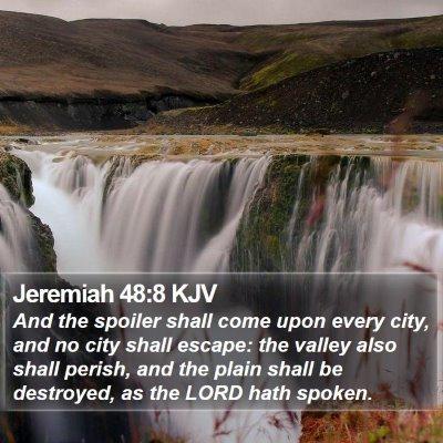 Jeremiah 48:8 KJV Bible Verse Image