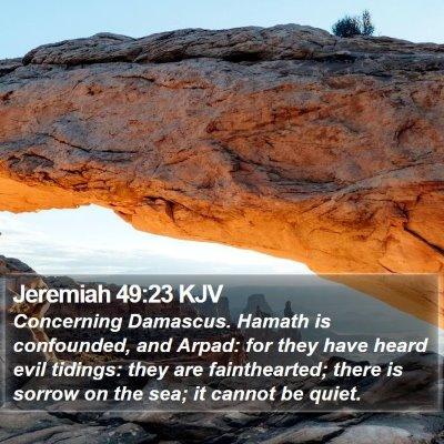 Jeremiah 49:23 KJV Bible Verse Image