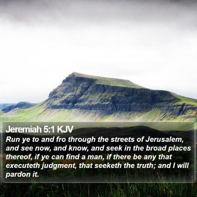 Jeremiah 5:1 KJV Bible Verse Image