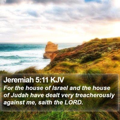 Jeremiah 5:11 KJV Bible Verse Image