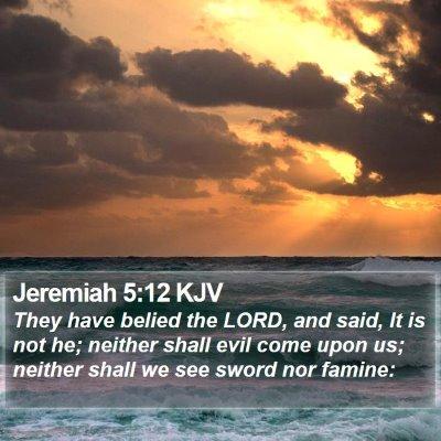 Jeremiah 5:12 KJV Bible Verse Image
