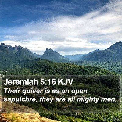 Jeremiah 5:16 KJV Bible Verse Image