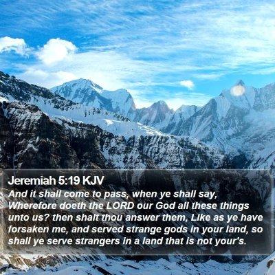 Jeremiah 5:19 KJV Bible Verse Image