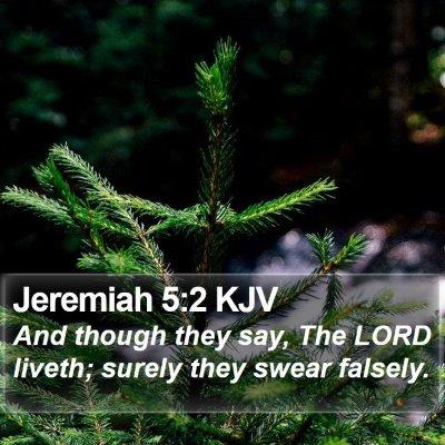 Jeremiah 5:2 KJV Bible Verse Image