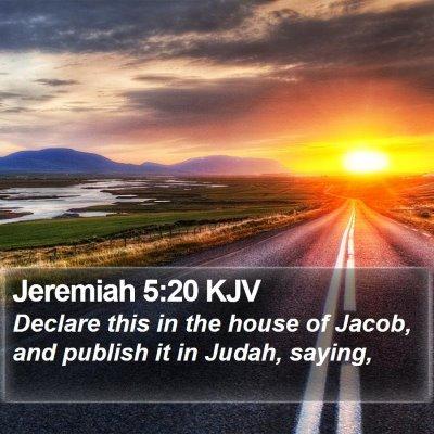 Jeremiah 5:20 KJV Bible Verse Image