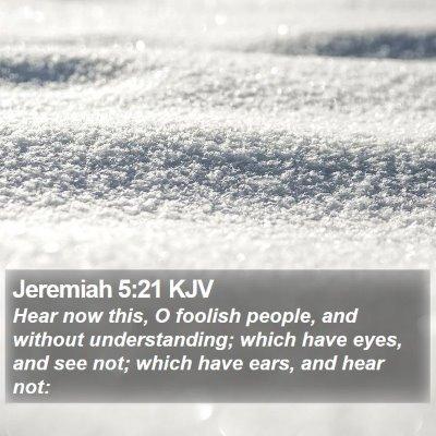 Jeremiah 5:21 KJV Bible Verse Image