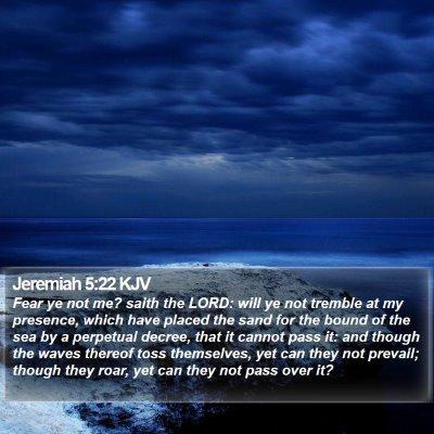 Jeremiah 5:22 KJV Bible Verse Image