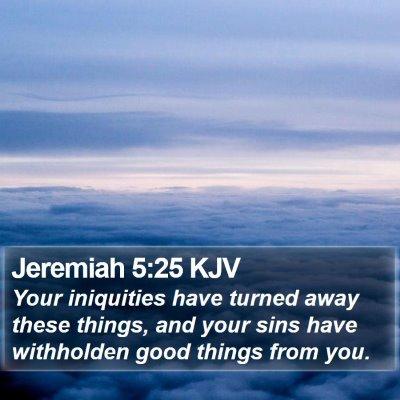 Jeremiah 5:25 KJV Bible Verse Image