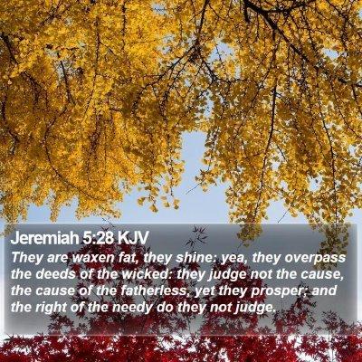 Jeremiah 5:28 KJV Bible Verse Image