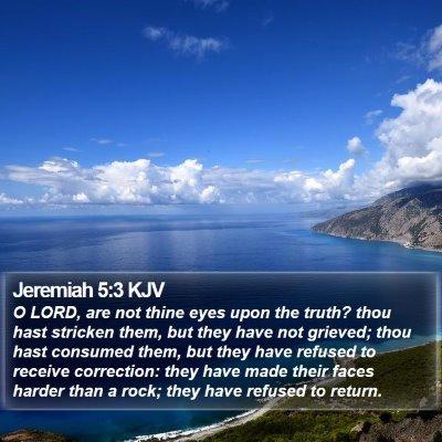 Jeremiah 5:3 KJV Bible Verse Image