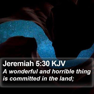 Jeremiah 5:30 KJV Bible Verse Image