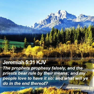 Jeremiah 5:31 KJV Bible Verse Image