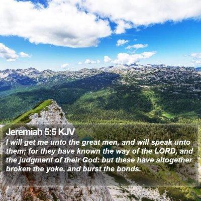 Jeremiah 5:5 KJV Bible Verse Image
