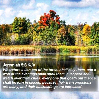 Jeremiah 5:6 KJV Bible Verse Image
