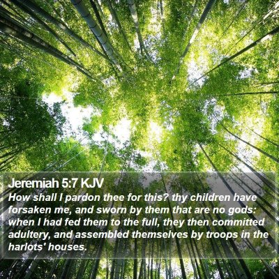 Jeremiah 5:7 KJV Bible Verse Image